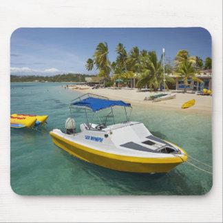 Powerboat and banana boat mouse pad
