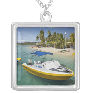 Powerboat and banana boat silver plated necklace