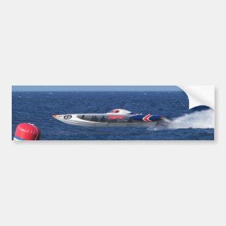 Powerboat Car Bumper Sticker