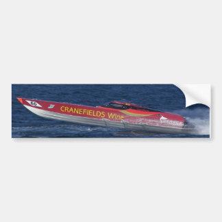 Powerboat costero etiqueta de parachoque