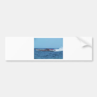 Powerboat. costero de Kiton Etiqueta De Parachoque