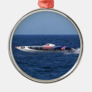 Powerboat Metal Ornament