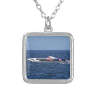 Powerboat Silver Plated Necklace