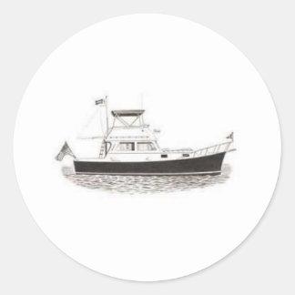 Powerboat Classic Round Sticker