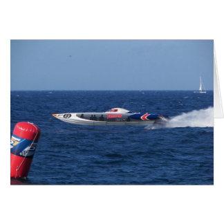 Powerboat Tarjeta De Felicitación