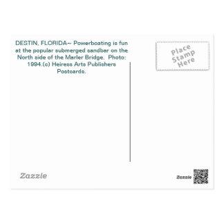 Powerboating y Destin, la Florida Postcard~Destin  Tarjetas Postales