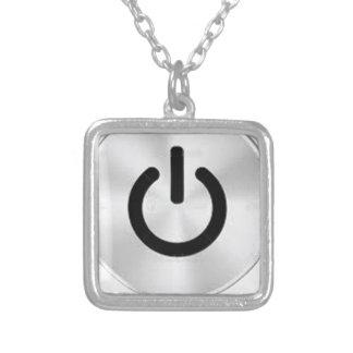 PowerButton.png Square Pendant Necklace