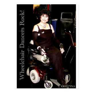 POWERCHAIR DANCING POSTCARD