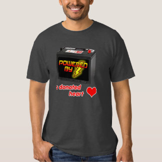 Powered by a donated heart t-shirt