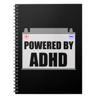 Powered By ADHD Spiral Notebook