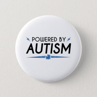 Powered By Autism Pinback Button