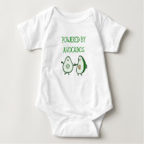 Powered by Avocados - Cool Vegan Baby Shirt