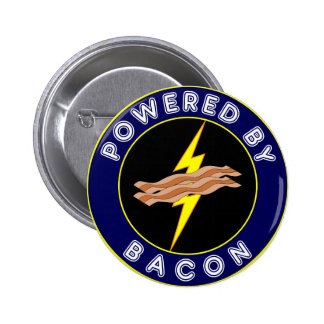 Powered By Bacon 2 Inch Round Button