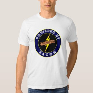 Powered By Bacon Blue Superhero Men's T-Shirt