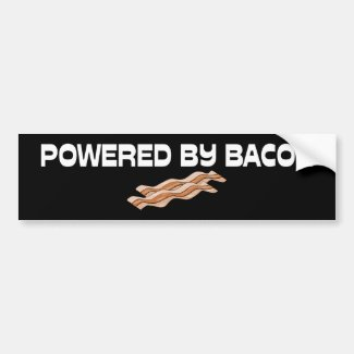 Powered By Bacon Car Bumper Sticker