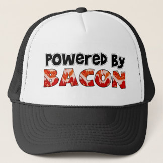Powered by Bacon Humor Trucker Hat
