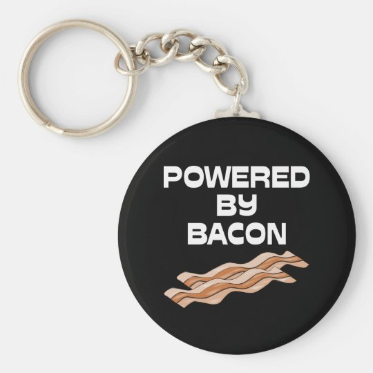Powered By Bacon Keychain