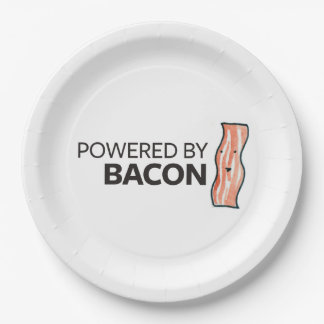Powered by Bacon Paper Plate
