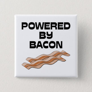 Powered By Bacon Pinback Button