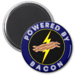 Powered By Bacon Refrigerator Magnets