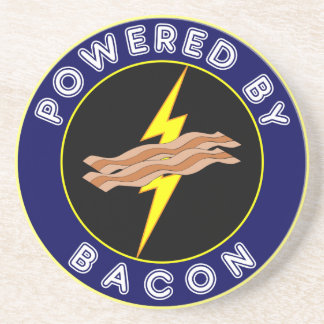 Powered By Bacon Sandstone Coaster