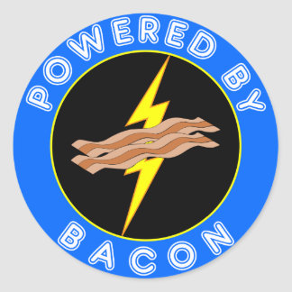 Powered By Bacon Stickers