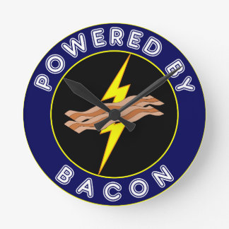 Powered By Bacon Wall Clock