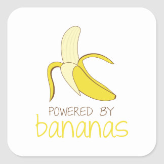 Powered By Bananas Square Sticker