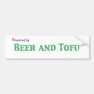 Powered by Beer and Tofu Bumper Sticker