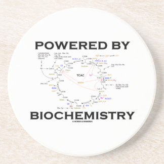 Powered By Biochemistry (Krebs Cycle) Sandstone Coaster