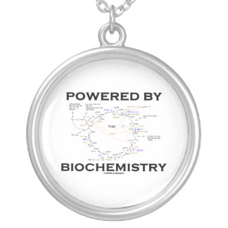 Powered By Biochemistry (Krebs Cycle / TCAC) Round Pendant Necklace