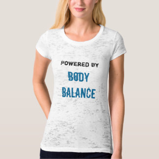 Powered By Body Balance burnout tee