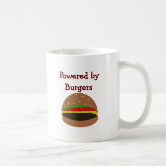 """""""Powered by Burgers""""--funny Hamburger Lover Gifts Mug"""