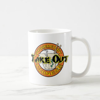 Powered By Chinese Take Out Classic White Coffee Mug
