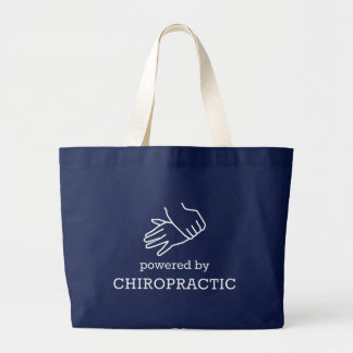 Powered By Chiropractic Large Tote Bag