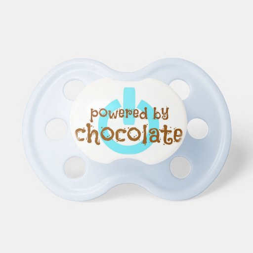 Powered by Chocolate - Blue BooginHead Pacifier