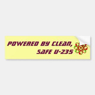 Powered by Clean, Safe U-235 Car Bumper Sticker