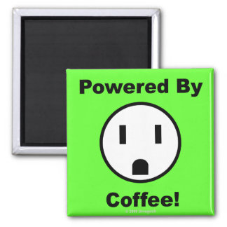 Powered By Coffee - Magnet (green)
