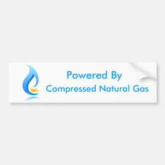 Powered By Compressed Natural Gas Car Bumper Sticker