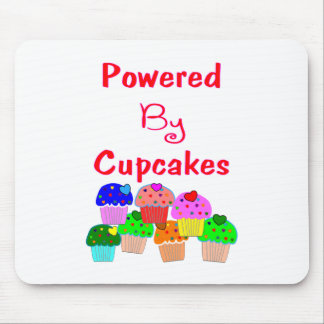 Powered by Cupcakes--Adorable Cupcake lover gifts Mouse Pads
