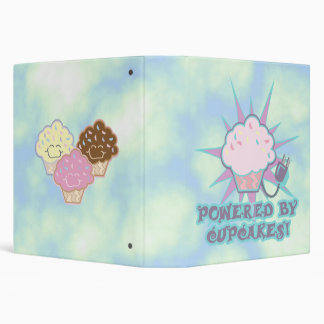 Powered by Cupcakes Notebook 3 Ring Binder