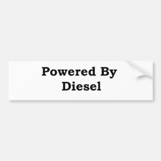 Powered By Diesel Bumper Sticker