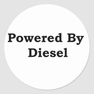 Powered By Diesel Classic Round Sticker