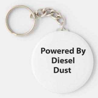 powered by diesel dust keychain