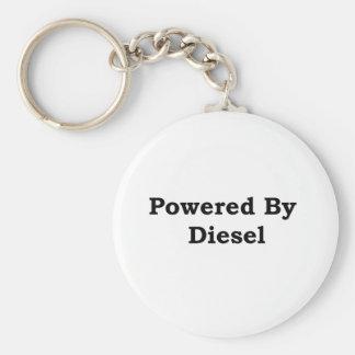 Powered By Diesel Basic Round Button Keychain