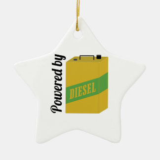 Powered By Double-Sided Star Ceramic Christmas Ornament