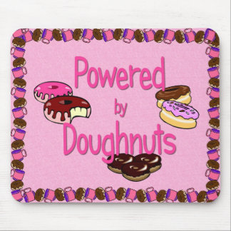 Powered by Doughnuts Mouse Pad