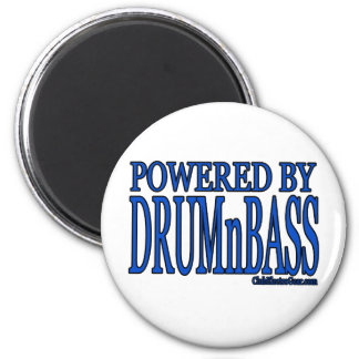 powered by DRUMnBASS Refrigerator Magnet