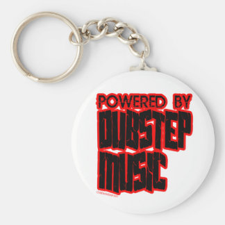 powered by DUBSTEP music Basic Round Button Keychain