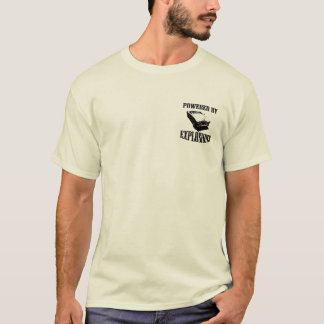 """""""Powered by Explosions"""" British Sports Car T-Shirt"""
